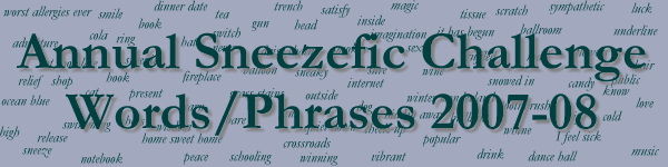 Sneezefic Words/Phrases Challenge